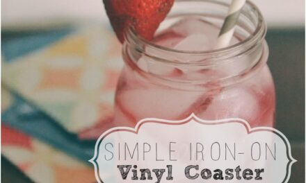 DIY Iron-On Vinyl Coasters