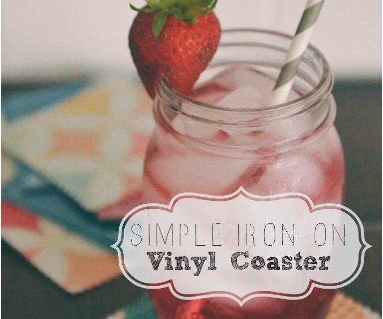 DIY Iron-On Vinyl Coasters