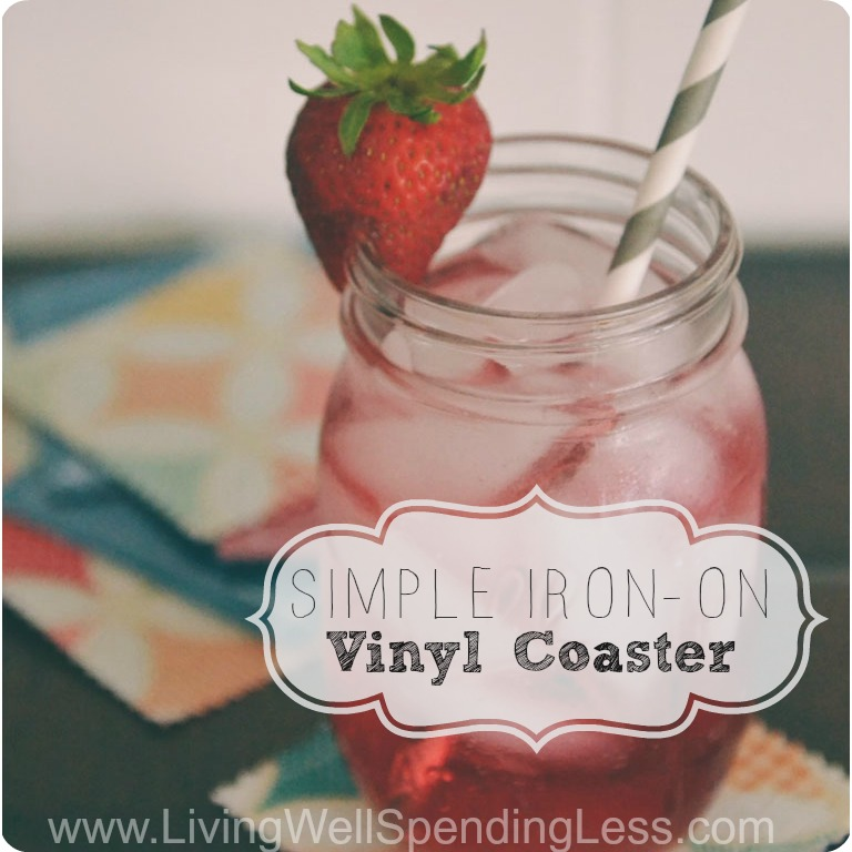 Protect your furniture with these Simple Iron-On Vinyl Coasters!
