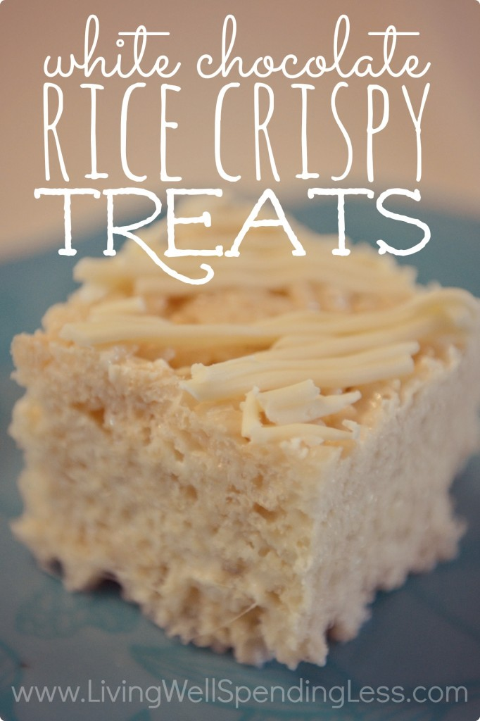 White Chocolate Rice Crispy Treats--just 4 ingredients!