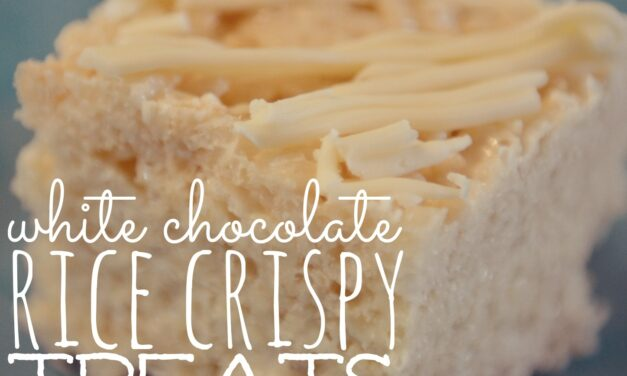 White Chocolate Rice Crispy Treats