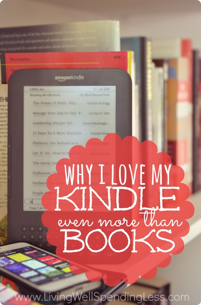 Why I love my Kindle more than books.  Still on the fence about whether an e-reader is for you  You won't be after reading this post!  I can't believe all the great perks included with a Kindle!