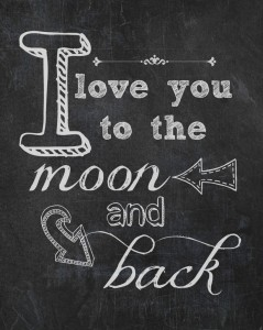 I love you to the moon & back free printable