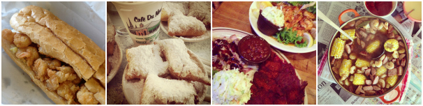 One of the best parts of a road trip is the food, from po' boys to beignets to a classic crawfish boil. Try it all!