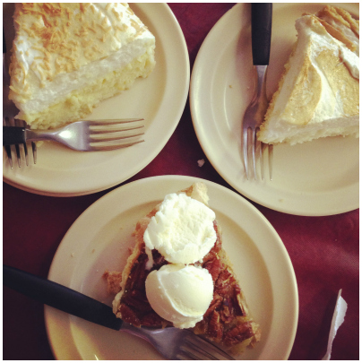 Trying different kinds of pie at every cafe we passed: a great family road trip tradition.