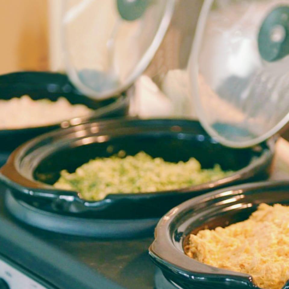 Triple Crock Pot Dip | 3 Great Party Dip Recipes | Easy Party Dips | Triple Crock Pot Ideas | Crock Pot Dip Recipes
