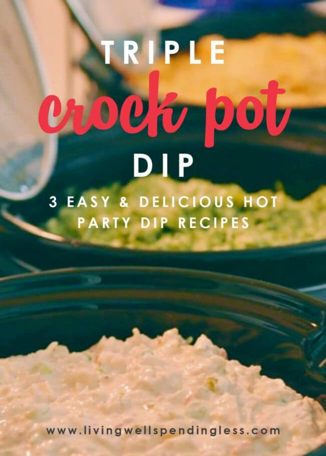 Wondering what to cook for game day? These three hot crockpot dip recipes are easy and perfect for satisfying those appetizer cravings!