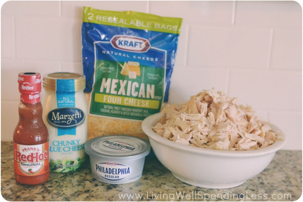 Easy Buffalo Chicken Dip Recipe ingredients