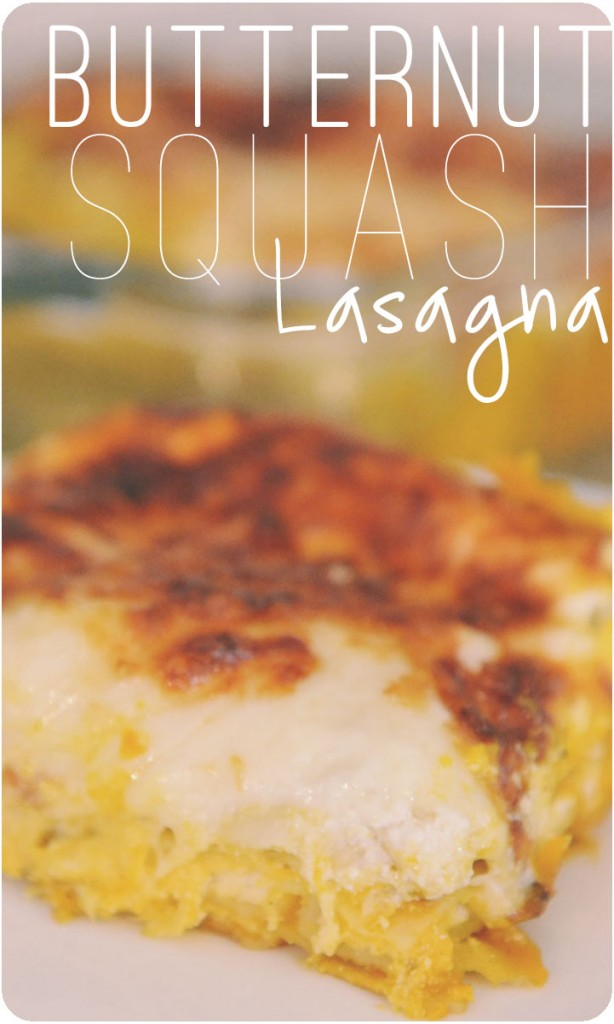 "Butternut Squash Lasagna.  This yummy vegetarian lasagna is perfect for fall!  It looks complicated but comes together in just a few minutes.  Great family-pleasing meal & perfect for ""meatless mondays."""