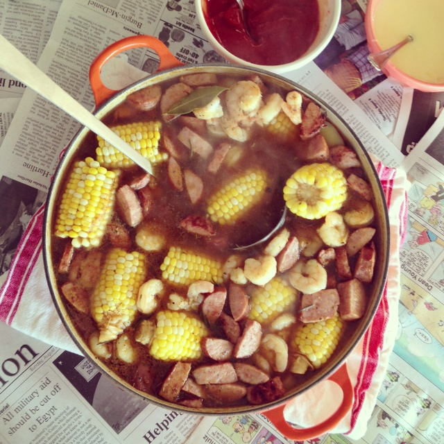 This shrimp boil was to die for! So yummy!