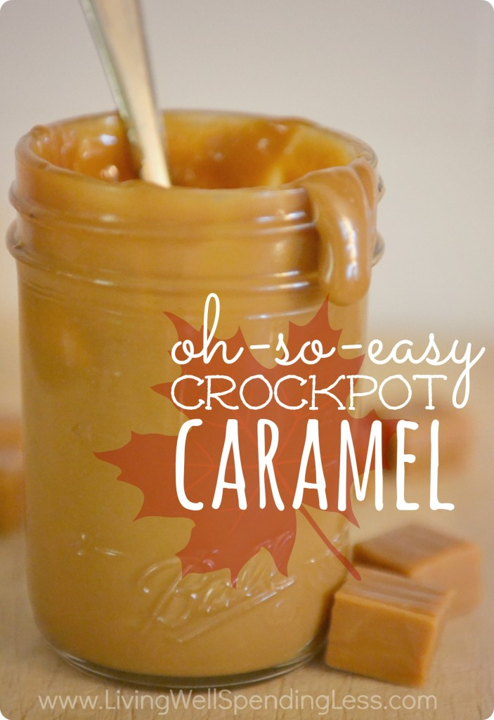 Oh-So-Easy Crockpot Caramel...you seriously won't believe how easy it is to make this amazing caramel!  Just one ingredient + a crockpot is all you need.  Amazing!