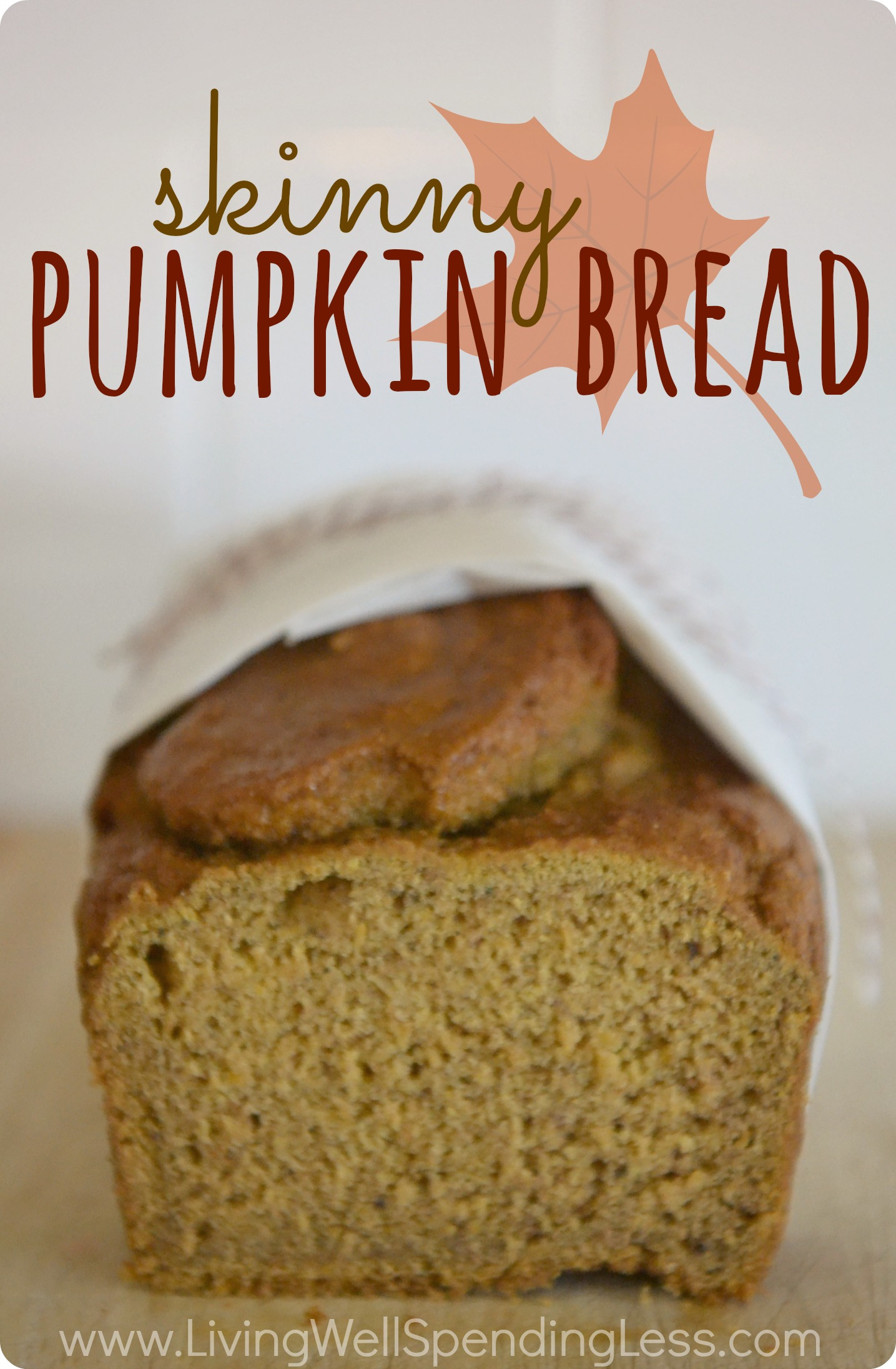 Skinny Pumpkin Bread. Oh my goodness, this bread is so moist & amazing