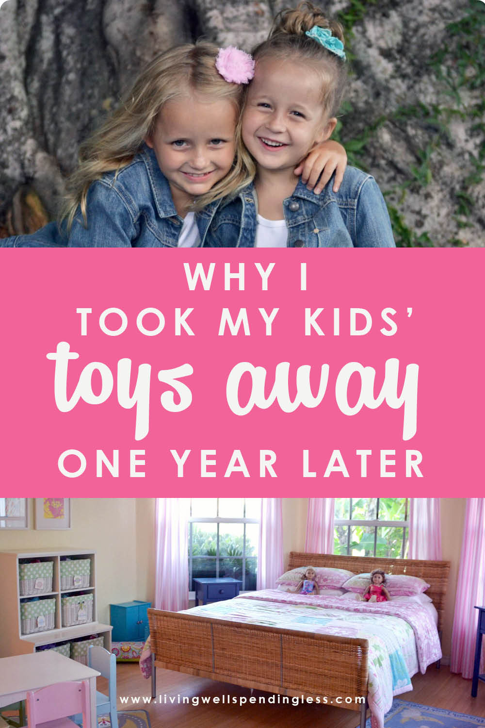 A fed up mom set limits and cleaned out her kids room. One year later, the girls have seen some major changes. A must read to find out what happened!
