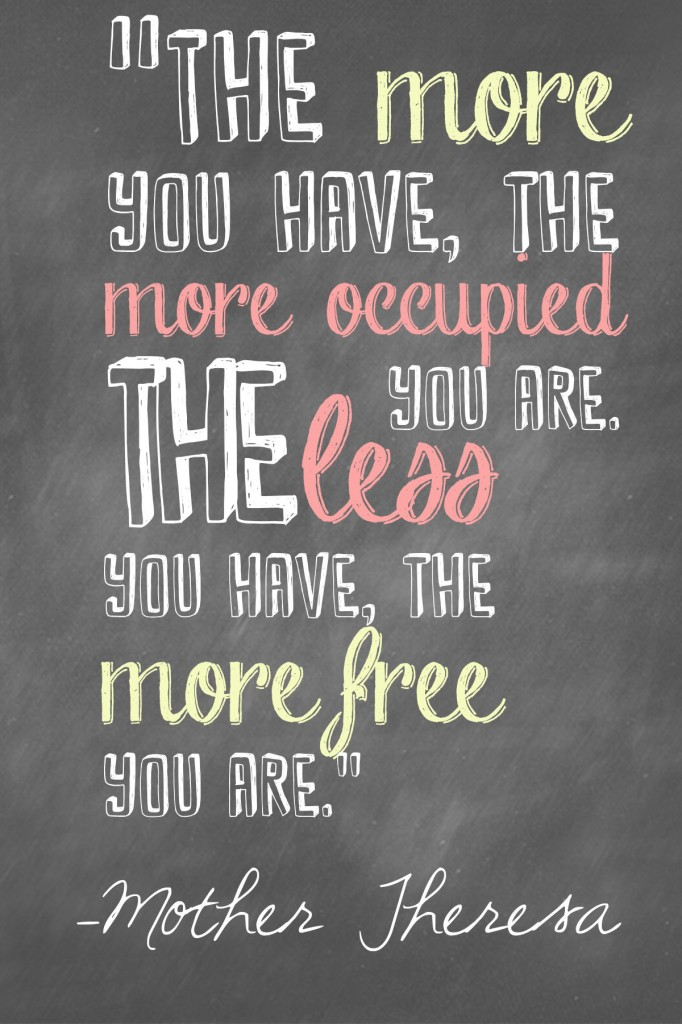 Less Coming In     Minimalist Life   Life Goals   31 Days of Less & More challenge