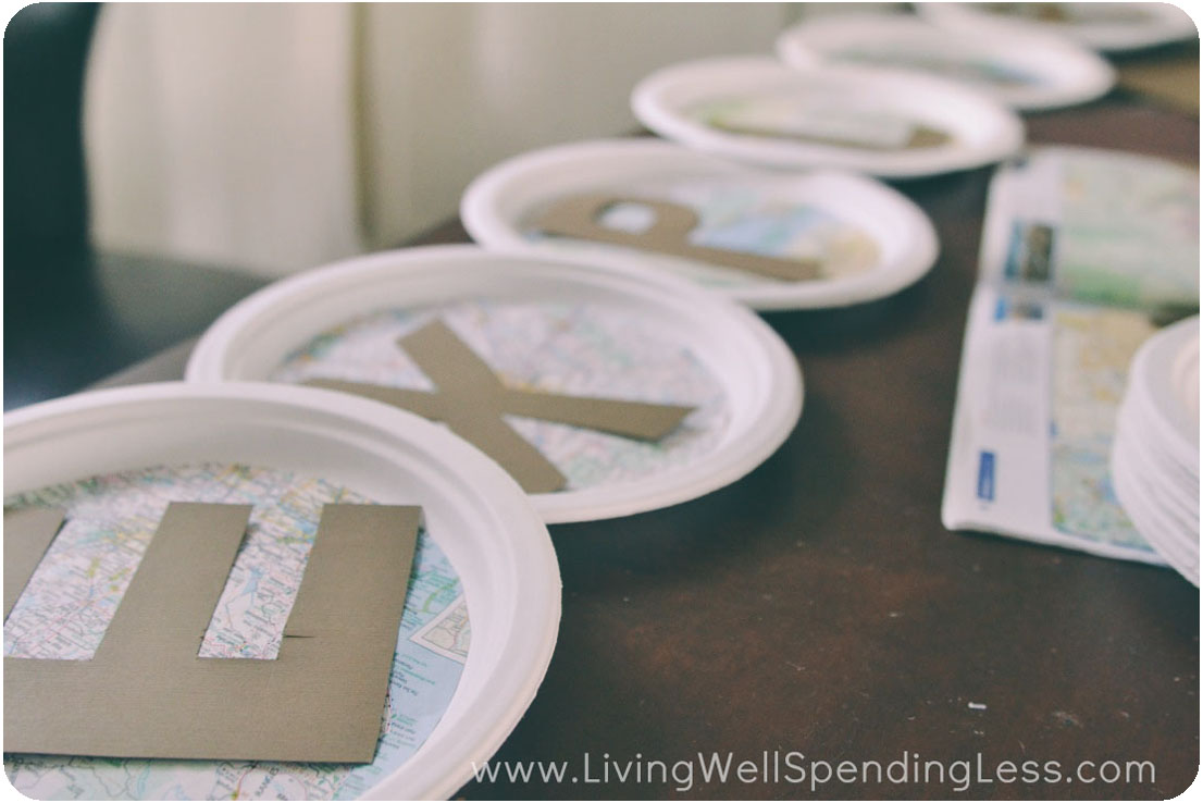 How to Make a Paper Plate Banner | Easy Inexpensive Party Banner | Party Decorations | & How to Make a Paper Plate Banner - Living Well Spending Less®