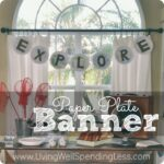 Paper Plate Banner--cute idea for a party banner & sturdy enough to use outside!