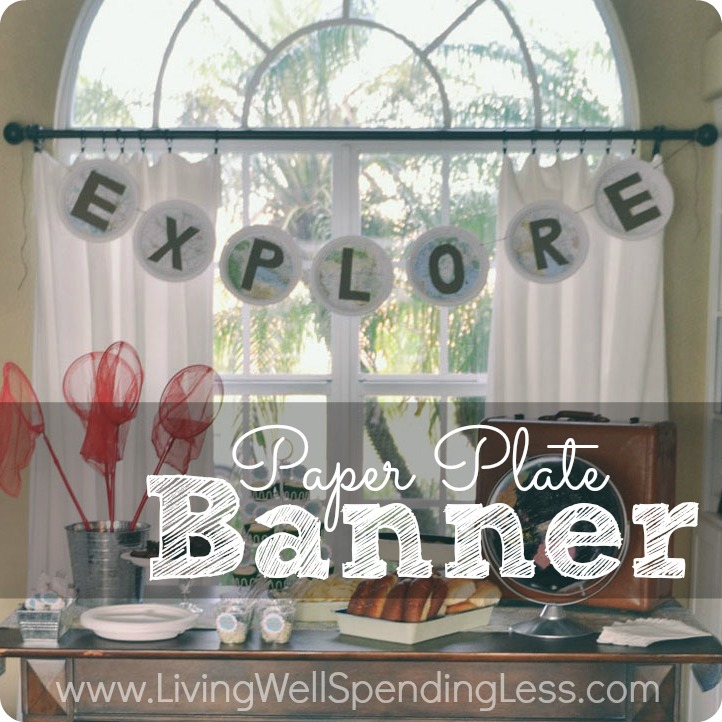 How to Make a Paper Plate Banner | Easy Inexpensive Party Banner | Party Decorations | Party Banner | DIY Paper Plate Backdrop | Easy Party Banner DIY