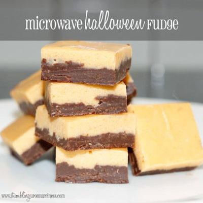 Microwave Halloween Fudge