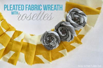 Pleated Fabric Wreath