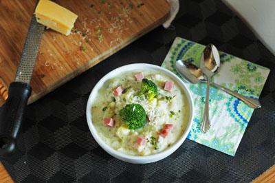 Ham, Broccoli and Cheddar Cheese Chowder