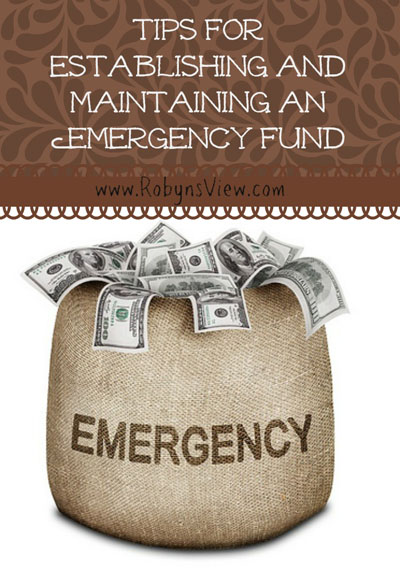 Establishing & Maintaining an emergency fund