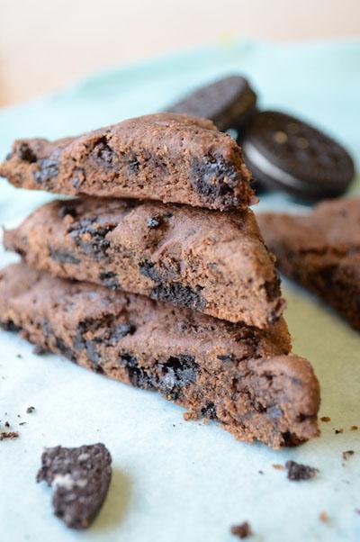 Dark Chocolate Oreo Scones