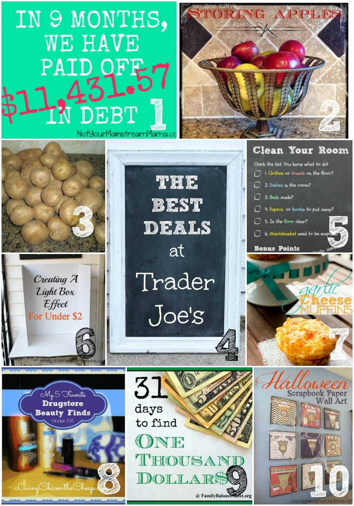 Thrifty Thursday Week 31 Top Ten