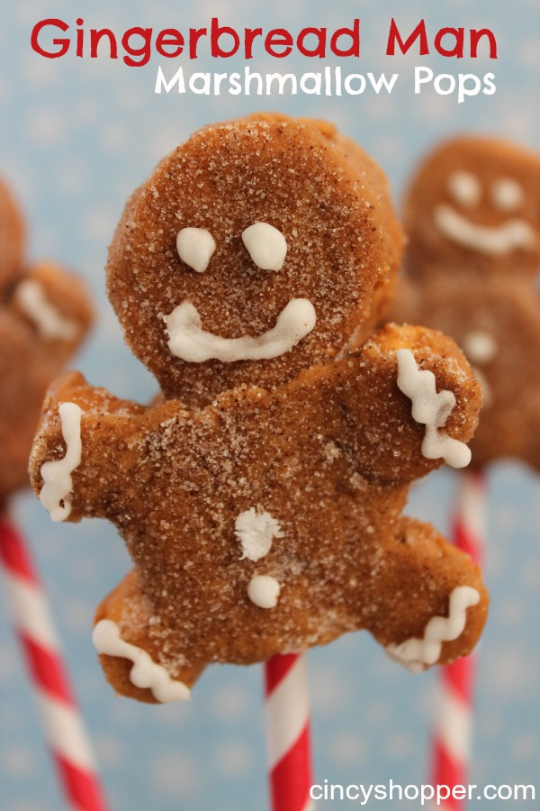 Gingerbread Man Marshmallo Popsicles