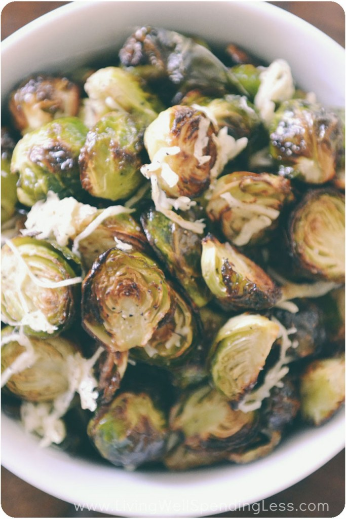 Parmesan Roasted Brussels Sprouts - Living Well Spending Less®