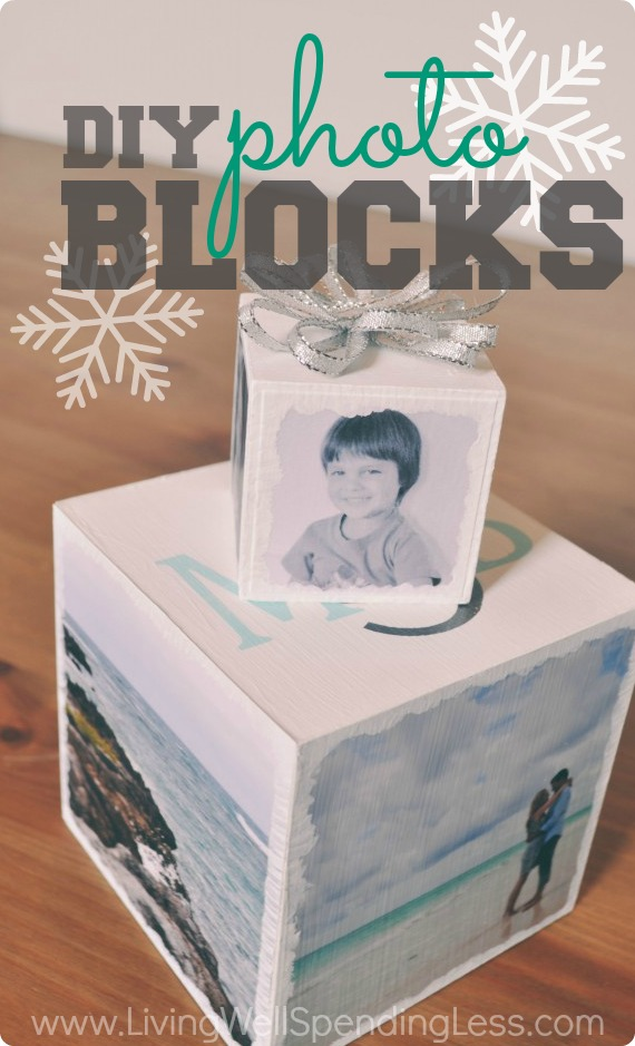 A DIY Photo Block makes the perfect handmade holiday gift for friends or family.