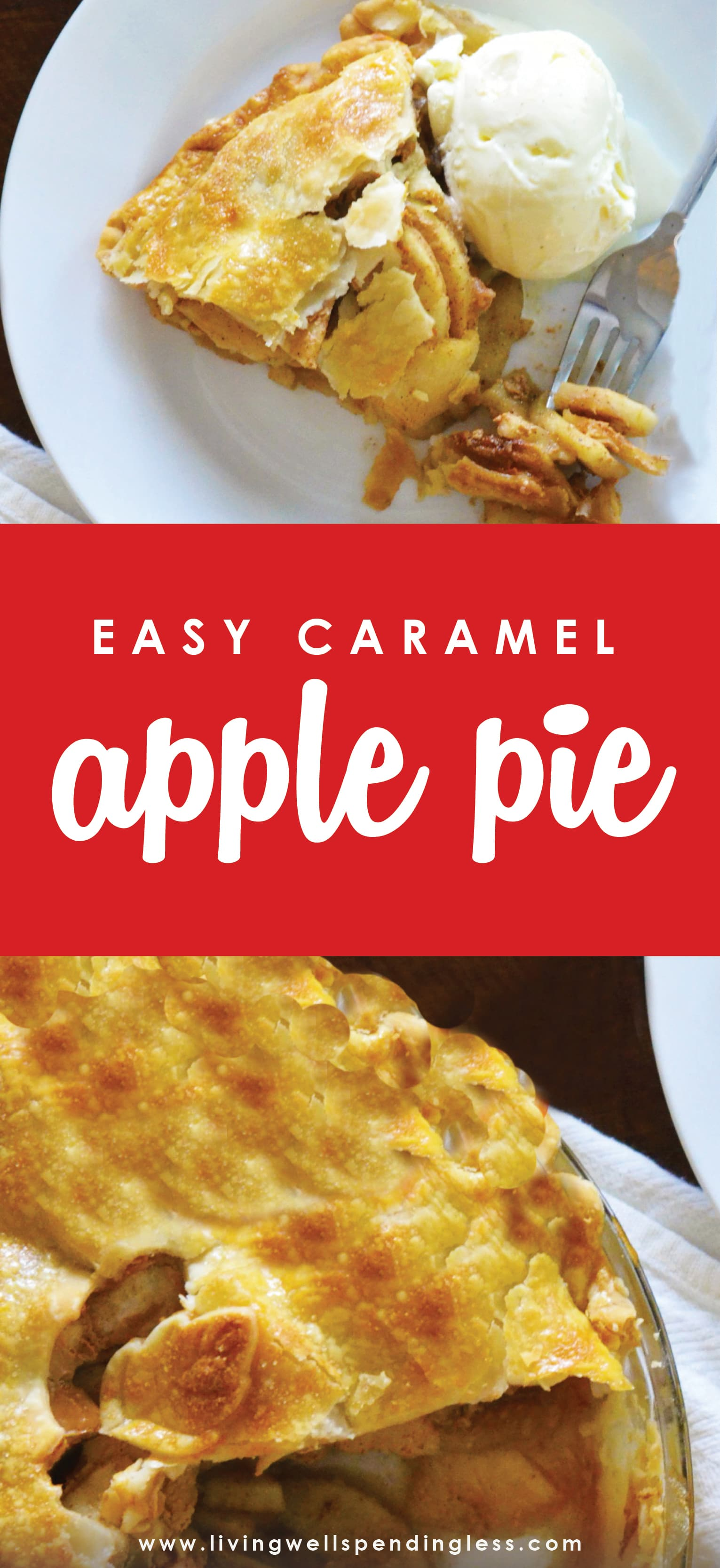 Love apple pie but not all the effort You won't believe how quick and easy it is to whip up this amazingly delicious, almost-from-scratch, caramel-infused version! Plus discover the secret weapon that every apple pie baker can't live without!  Easy Caramel Apple Pie | The BEST Easy Apple Pie Recipe | Homemade Caramel Apple Pie | Apple Pie | Pie Recipes | Thanksgiving Pie Recipes | Apple Pie from Scratch
