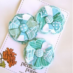 The Pleated Poppy Flower Pins