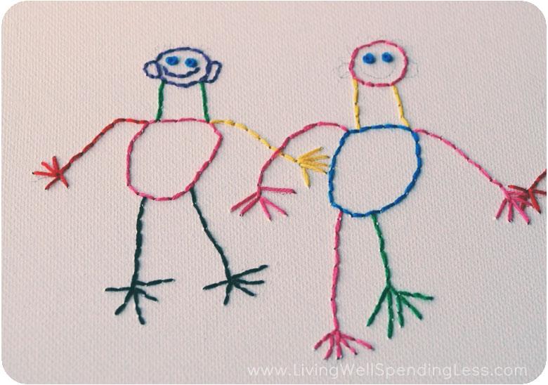 Embroidered Children's Art Canvas | Wall Art | Personalized Canvas Wall Art | Personalized Wall Art | Personalized Kids Decor | Personalized Baby Gifts