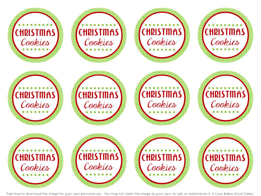 Free printable cookie jar stickers