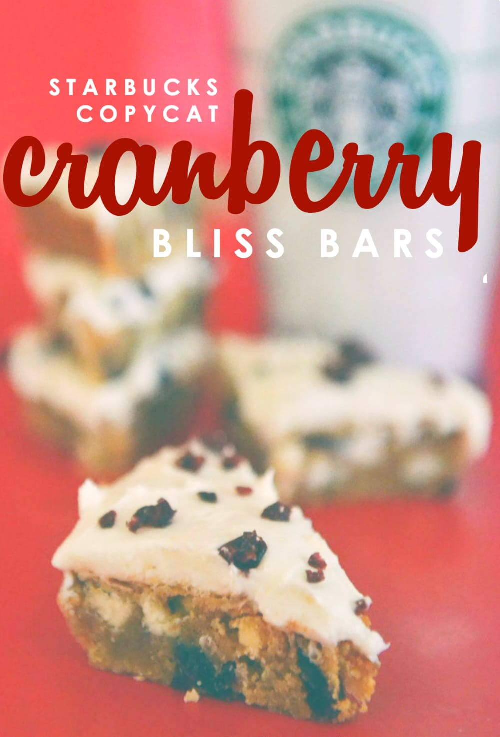 These Copycat Starbucks Cranberry Bliss Bars are yumazing!