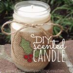 Great step-by-step tutorial for making your own scented candles!  These are so easy to make and smell so much better than expensive store-bought candles!  Great gift idea!