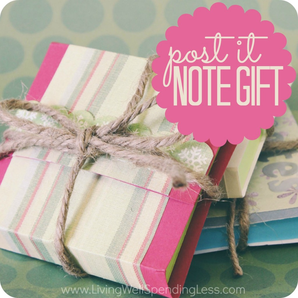 Pretty Post-it Notes | Handmade Holidays | DIY Inexpensive Gift Ideas | DIY Sticky Notes | Cute Adhesive Notes