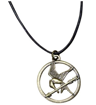 Movie buffs will love this mockinjay pendant as a gift from the Hunger Games movies.
