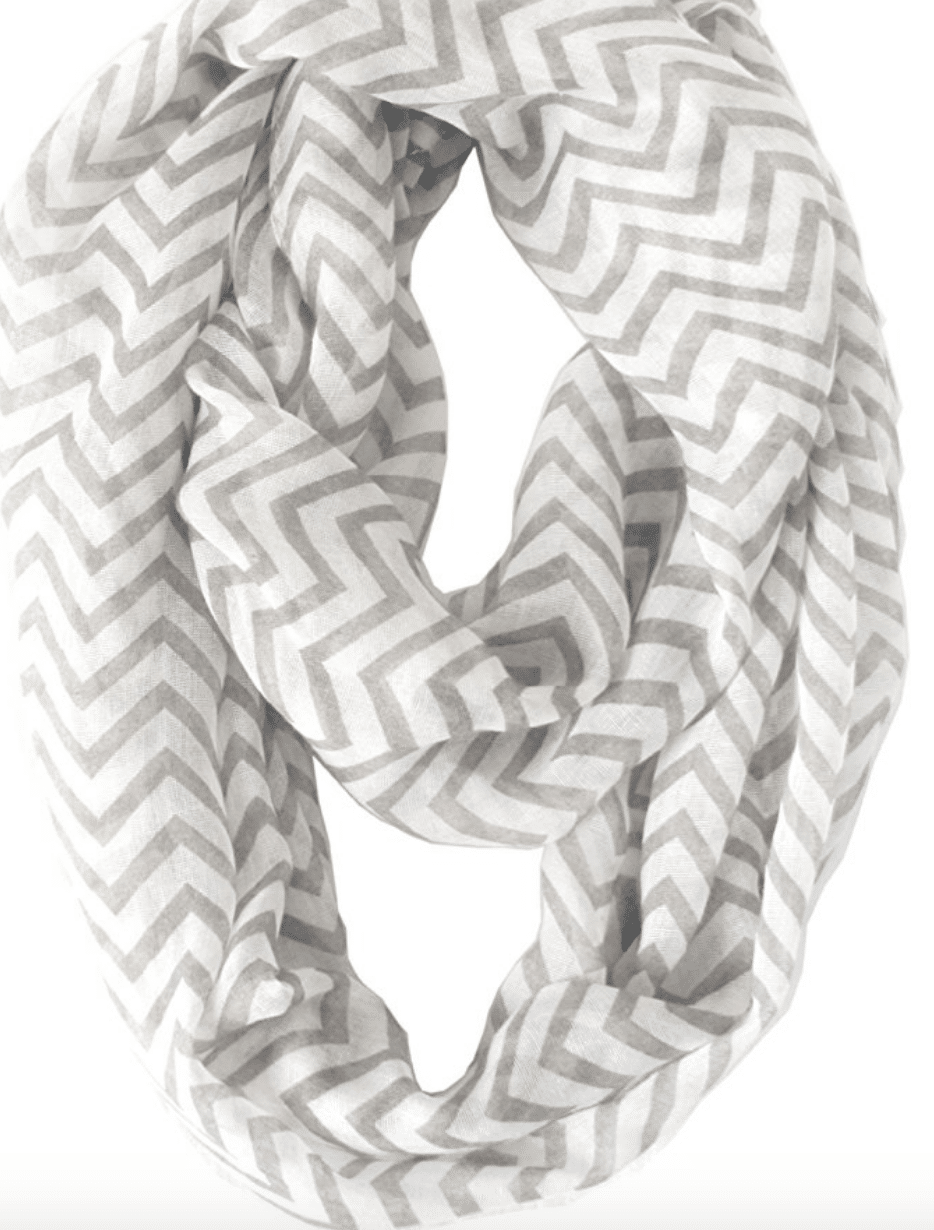 This infinity scarf makes a perfect gift for any fashionista.