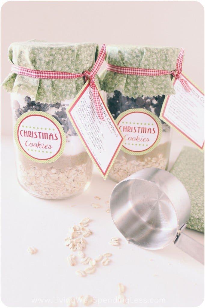 Add instruction tags to the jars with ribbons for a decorative touch