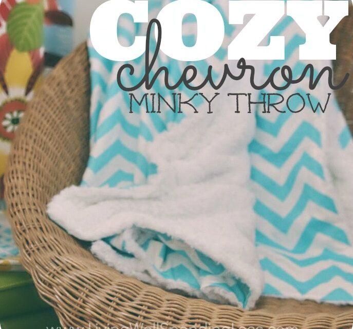 DIY Cozy Chevron Minky Throw