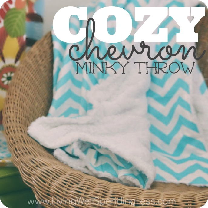 DIY Cozy Chevron Minky Throw | DIY Warm Winter Blankets To Keep Away The Winter Chill