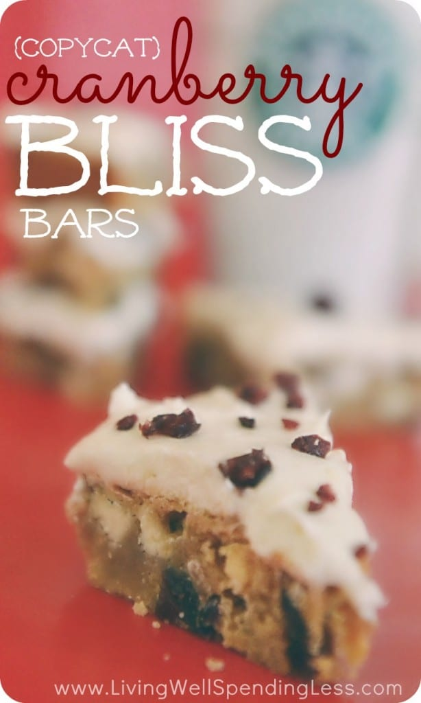 Copycat Starbucks Cranberry Bliss Bars | Cranberry Bliss Bars | Top Secret Recipes | Copycat Recipes