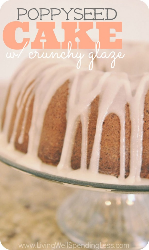 Try this amazing Poppyseed Cake with Crunchy Glaze recipe. You won't be disappointed!