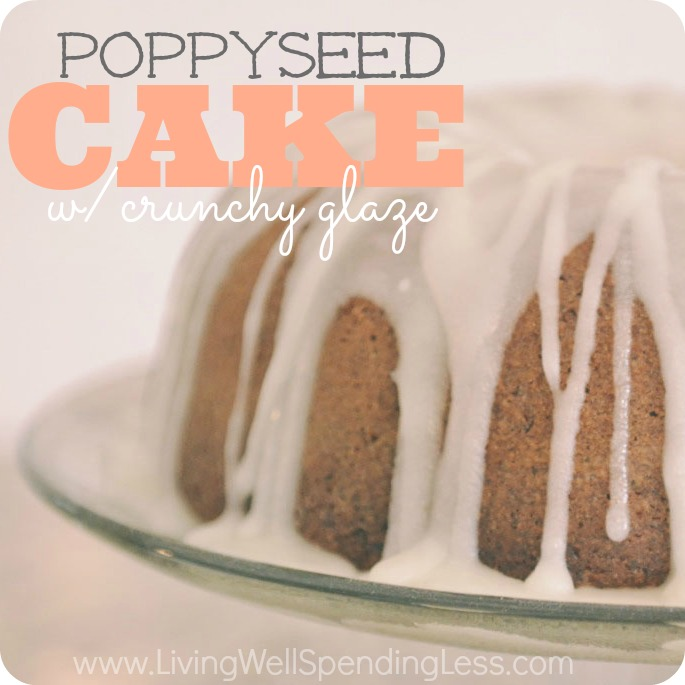 Poppyseed Cake with Crunchy Glaze | Cake Recipes | Poppy Seed Bundt Cake | Yummy Easy Poppyseed Cake