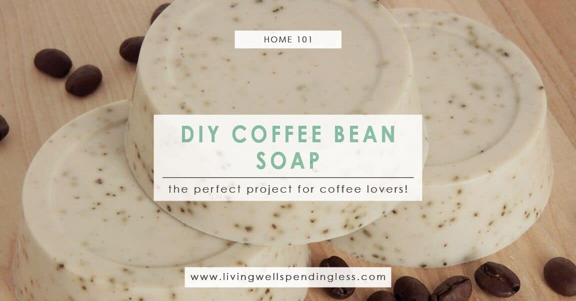 DIY Coffee Bean Soap | Homemade Organic Soap