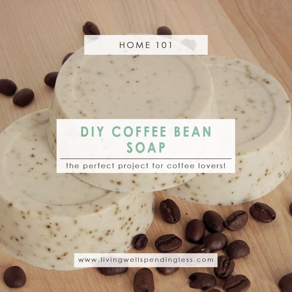 DIY Coffee Bean Soap | Homemade Soap | Organic Soap Recipe | How To Make Your Own Soap | Coffee Bean | Beauty Essentials | DIY Gift Ideas