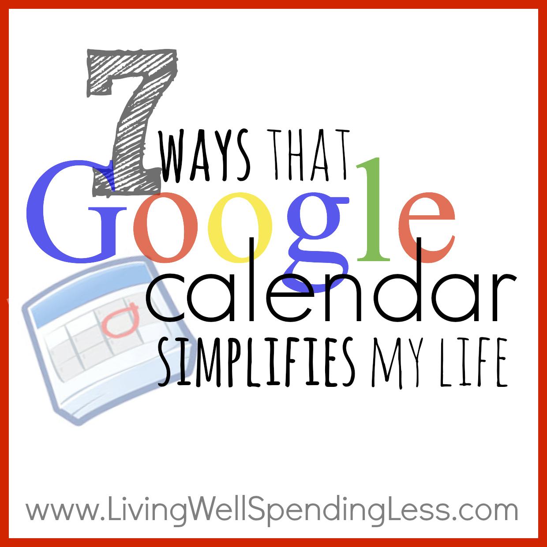 Google Calendar: Time Management