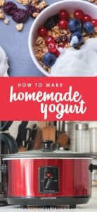 Looking for an easy and delicious homemade yogurt recipe? Here's how to make homemade yogurt in both a crockpot & Instant Pot - both super easy!
