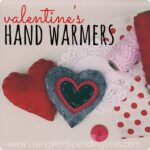 Looking for a cute alternative to traditional paper valentines  These darling heart-shaped felt hand warmers are a snap to make & super practical too! Makes a fun & easy project to do with kids!